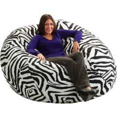 Zebra Print Bean Bag Chair Covers Halifax King 5 Fuf Walmart Com Departments