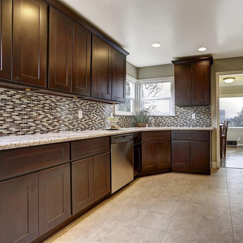 Design House Assembled Kitchen Cabinets in Espresso   Entire 10&39;x10&39; Kitchen   Walmart.com