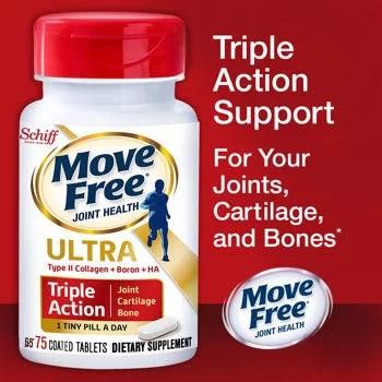 Schiff Move Free Ultra Triple Action 75 Tablets - Walmart.com
