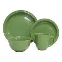 Mainstays Green Stalk 16pc Dinnerware Set - Walmart.com