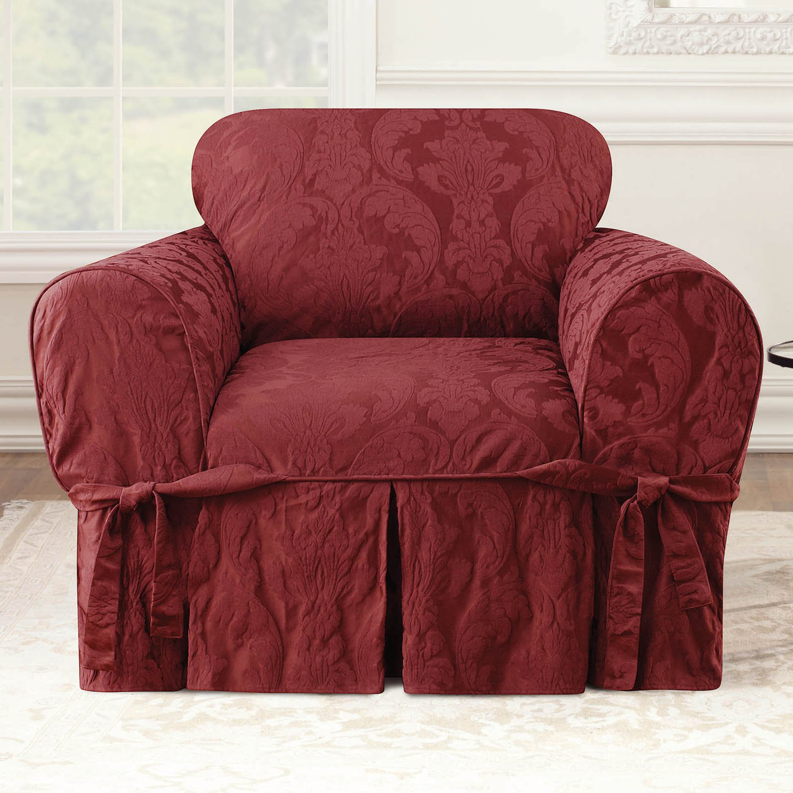 Surefit Chair Covers Sure Fit Matelasse Damask Chair Cover