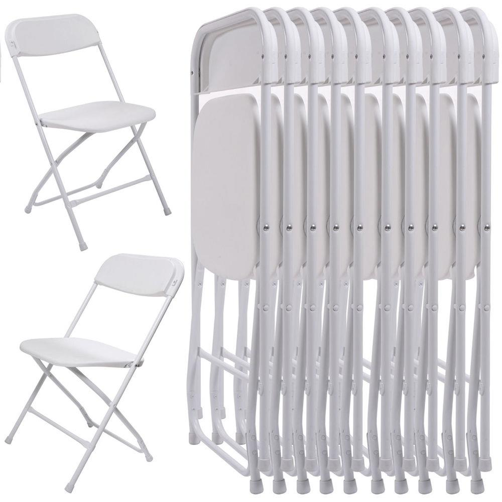 White Stackable Chairs Ktaxon 10pcs Commercial Plastic Folding Chairs Stackable Wedding Party Chairs White