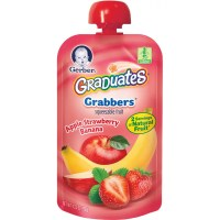 Gerber Graduates Grabbers Squeezable Fruit Apple