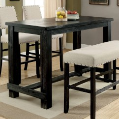 Bar Height Kitchen Table Cabinets Online Wholesale Furniture Of America Helin Ii Dining Walmart Com