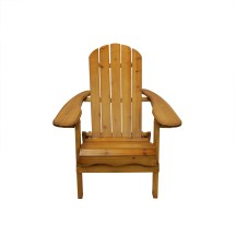 """40"""" Brown Wooden Folding Outdoor Patio Adirondack Chair"""