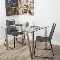 Matrix 42-inch Brushed Stainless Steel Hairpin Legs ...