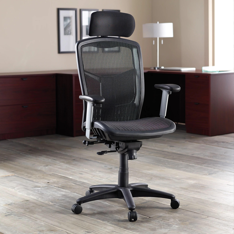 office chair qld with back support cushion lorell llr60324 ergomesh series high mesh 1 each black walmart com