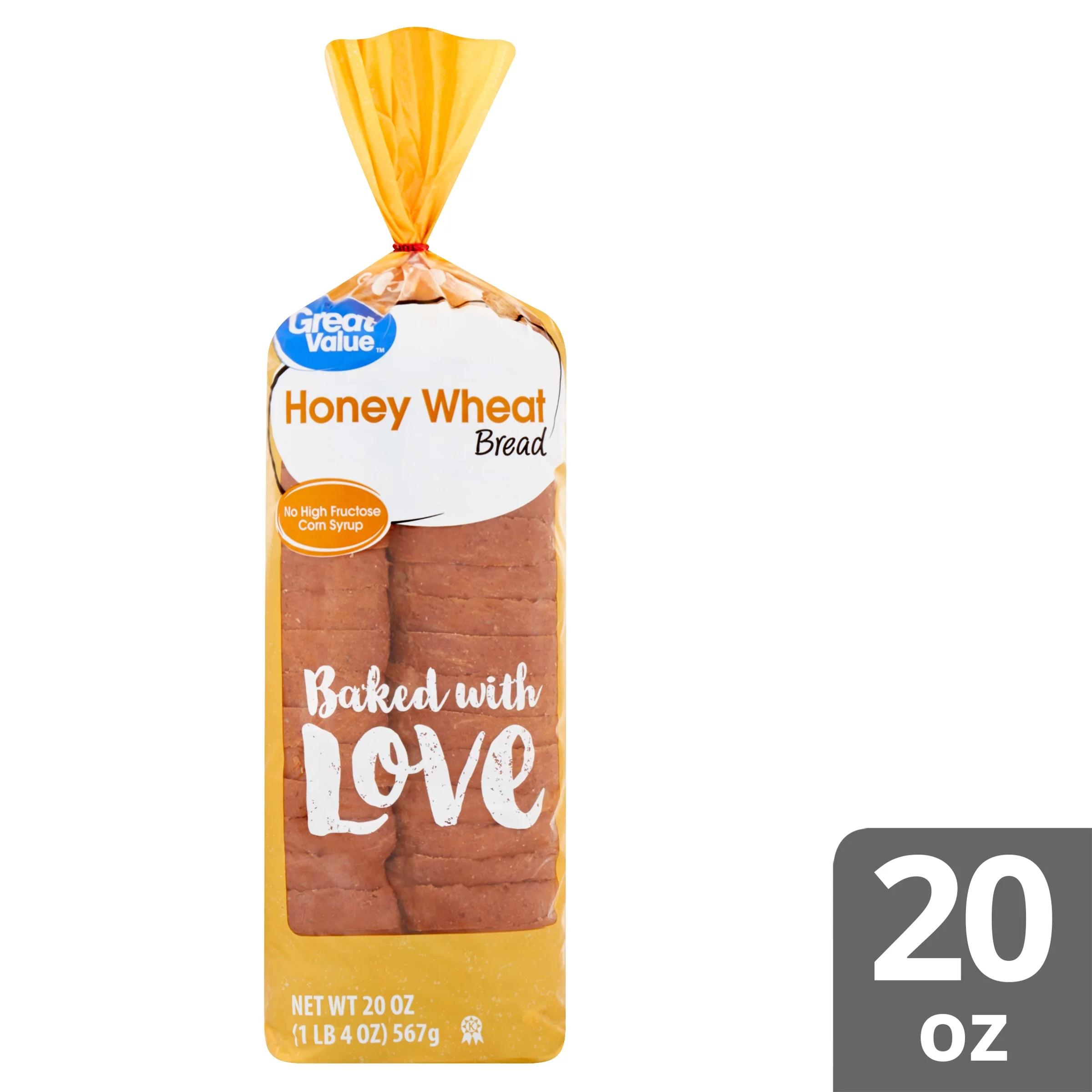 Great Value Wheat Bread with Honey 20 oz - Walmart.com