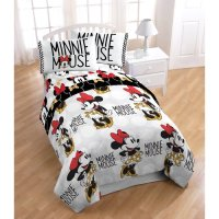 Disney Minnie Mouse Twin Bed in a Bag 5 Piece Bedding Set ...