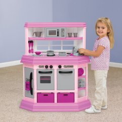 Kitchen Set For Girl How To Create A Pantry In Small Pretend Play Kids Cooking Bake Food Toy