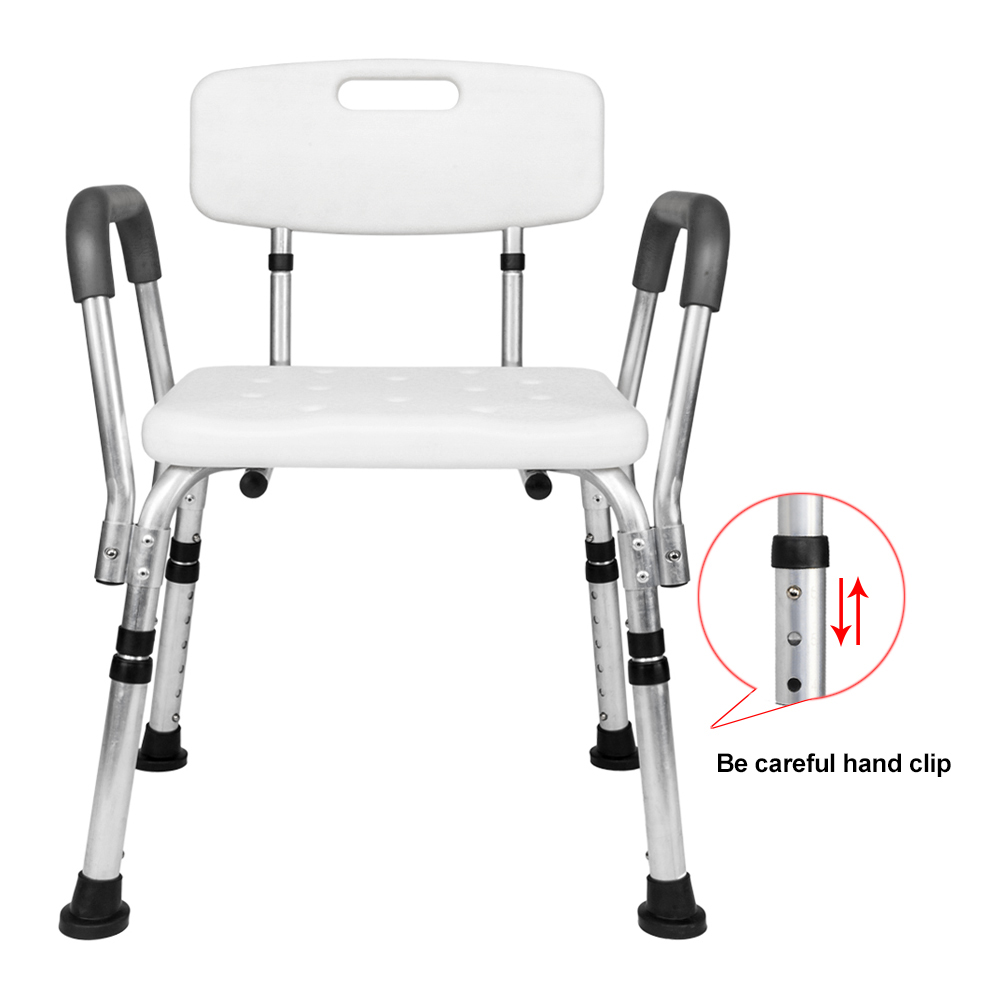 shower chair with back and armrests ikea club chairs ktaxon adjustable medical bathtub bench bath seat stool armrest walmart com