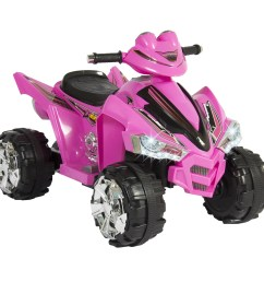 best choice products 12v kids battery powered electric 4 wheeler quad atv toddler ride on toy w 2 speeds led lights treaded tires pink walmart com [ 2600 x 2600 Pixel ]