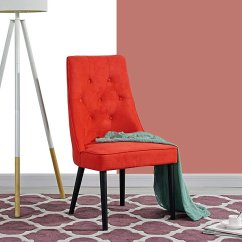 Red Tufted Dining Chair Foldable Lounge Big Lots Classic 2 Piece Button Velvet Walmart Com