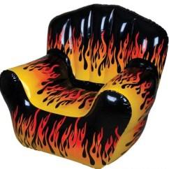 Inflatable Chair Canada Ikea Metal Chairs Flame Print Walmart