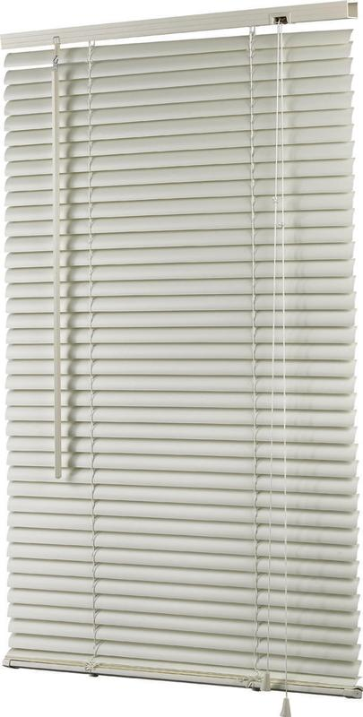 Simple Spaces Horizontal Light Filtering Mini Vinyl Blind, 64 In L X 30 In W, Alabaster 6 Pack