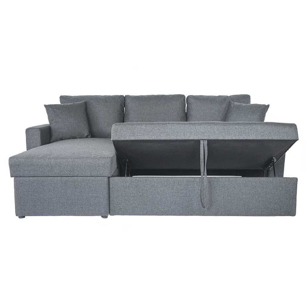 small sectional sleeper sofa with pull out ottoman convertible l shaped sofa into full size bed and chaise with inside storage compartment light