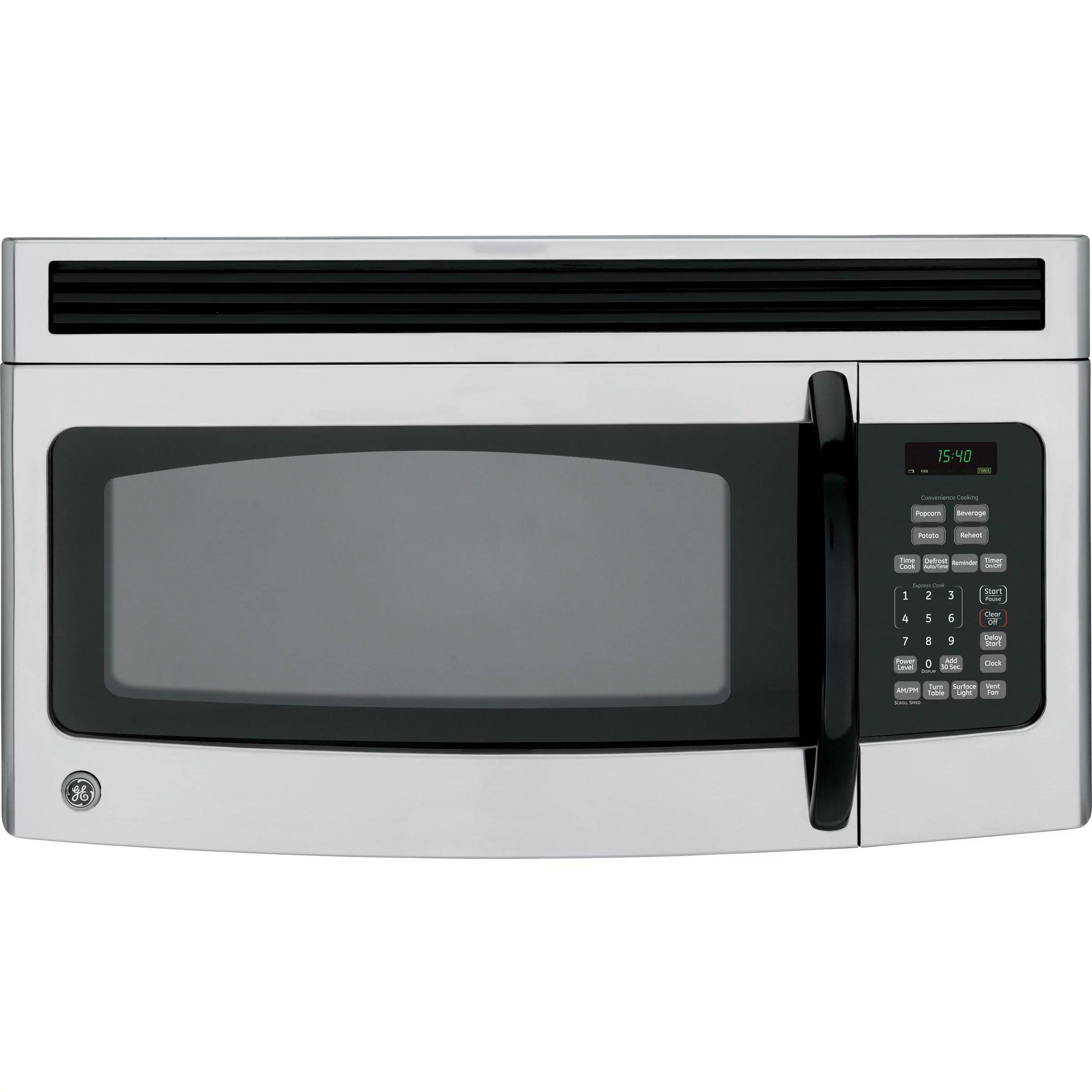 ge spacemaker jvm1540lmcs microwave oven over range 1 5 cu ft 950 w cleansteel
