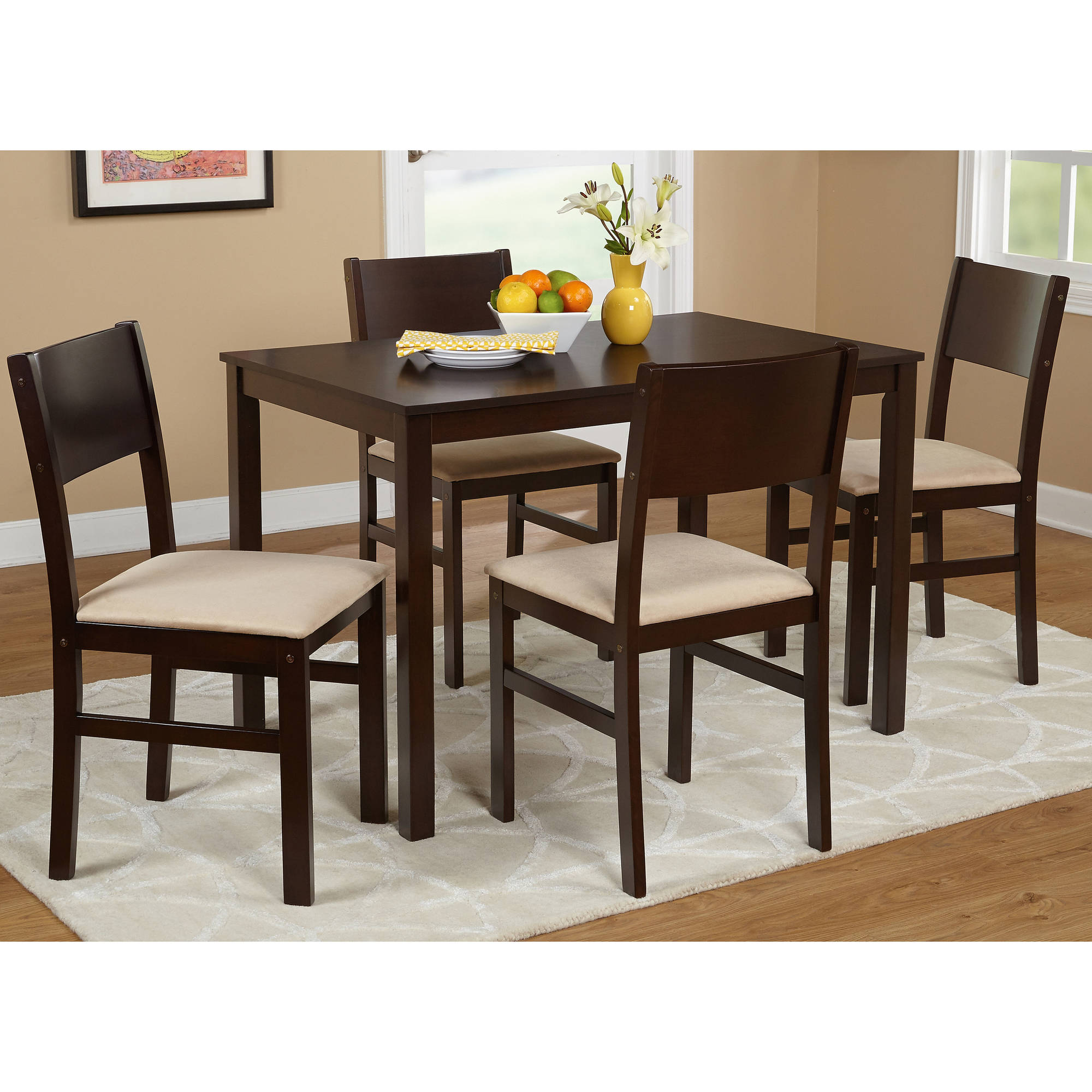 kitchen table sets industrial cleaning services lucca 5 piece dining set multiple colors walmart com