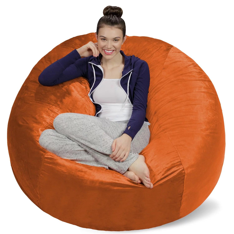 foam bean bag chair gym chairs cost sofa sack memory 5 ft walmart com