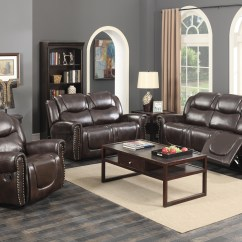 Sofa Rocking Chair Clayton Marcus Savannah 3 Pc Dark Brown Bonded Leather Living Room Reclining Set With Walmart Com