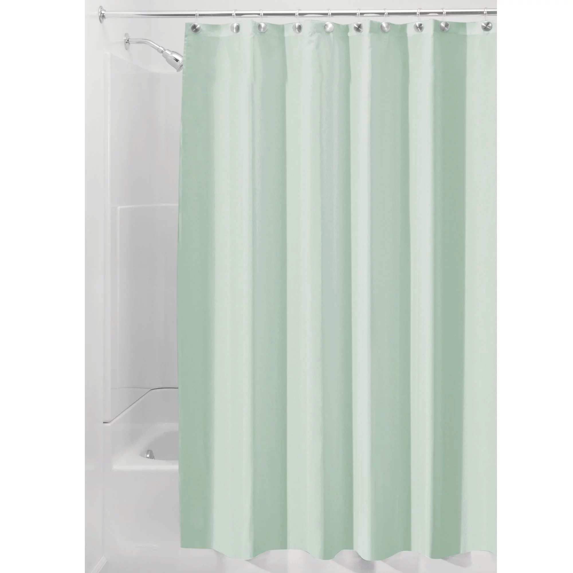 interdesign waterproof fabric shower curtain liner standard 72 x 72 seafoam green walmart com