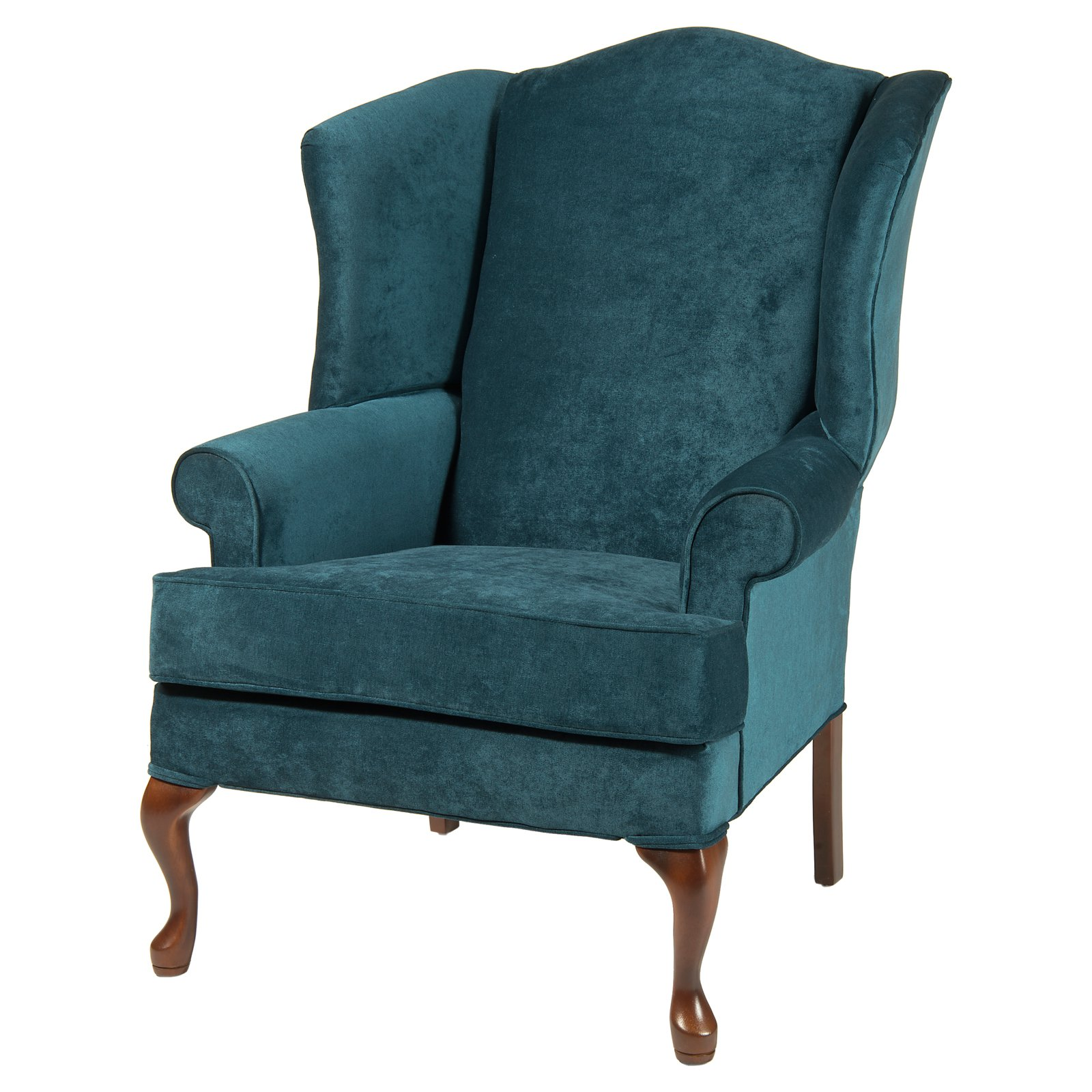 Teal Wingback Chair Comfort Pointe Elizabeth Wingback Chair