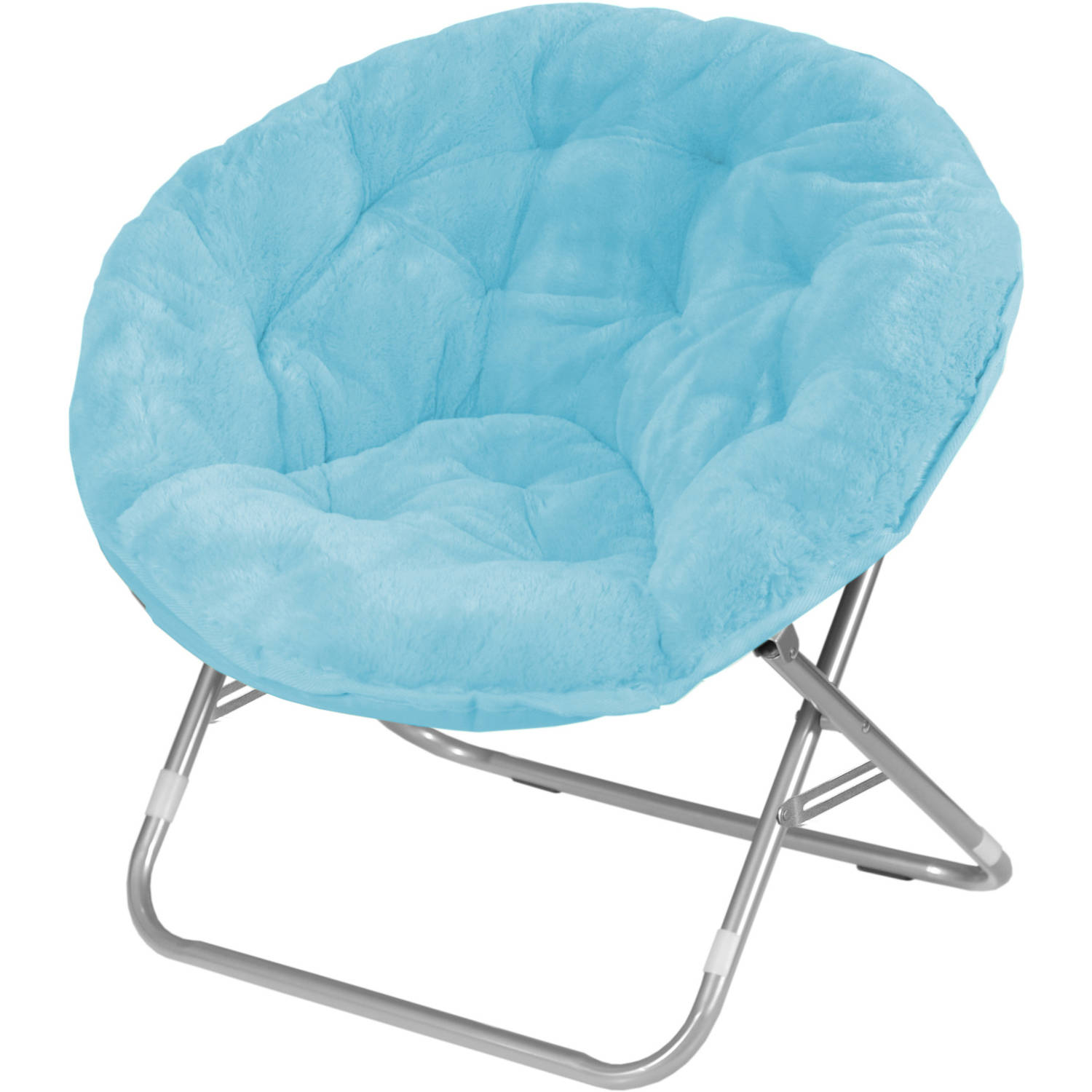 Dorm Chairs Faux Fur Saucer Moon Chair Dorm Room Lounging Furniture