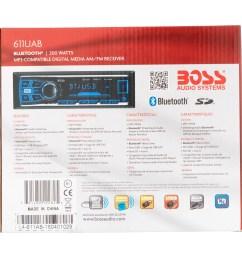 boss 611uab boss audio 611uab single din mech less receiver bluetooth in dash mp3 wma am fm 12 18 x am fm preset sd bluetooth usb  [ 2365 x 2365 Pixel ]