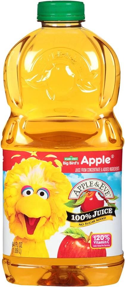 Apple Eve Sesame Street Big Bird39s 100 Apple Juice 64