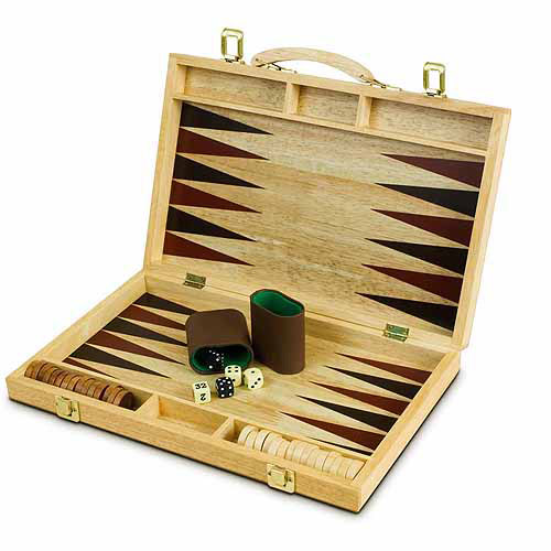Sterling Games 15 Wooden Backgammon Set Walmart