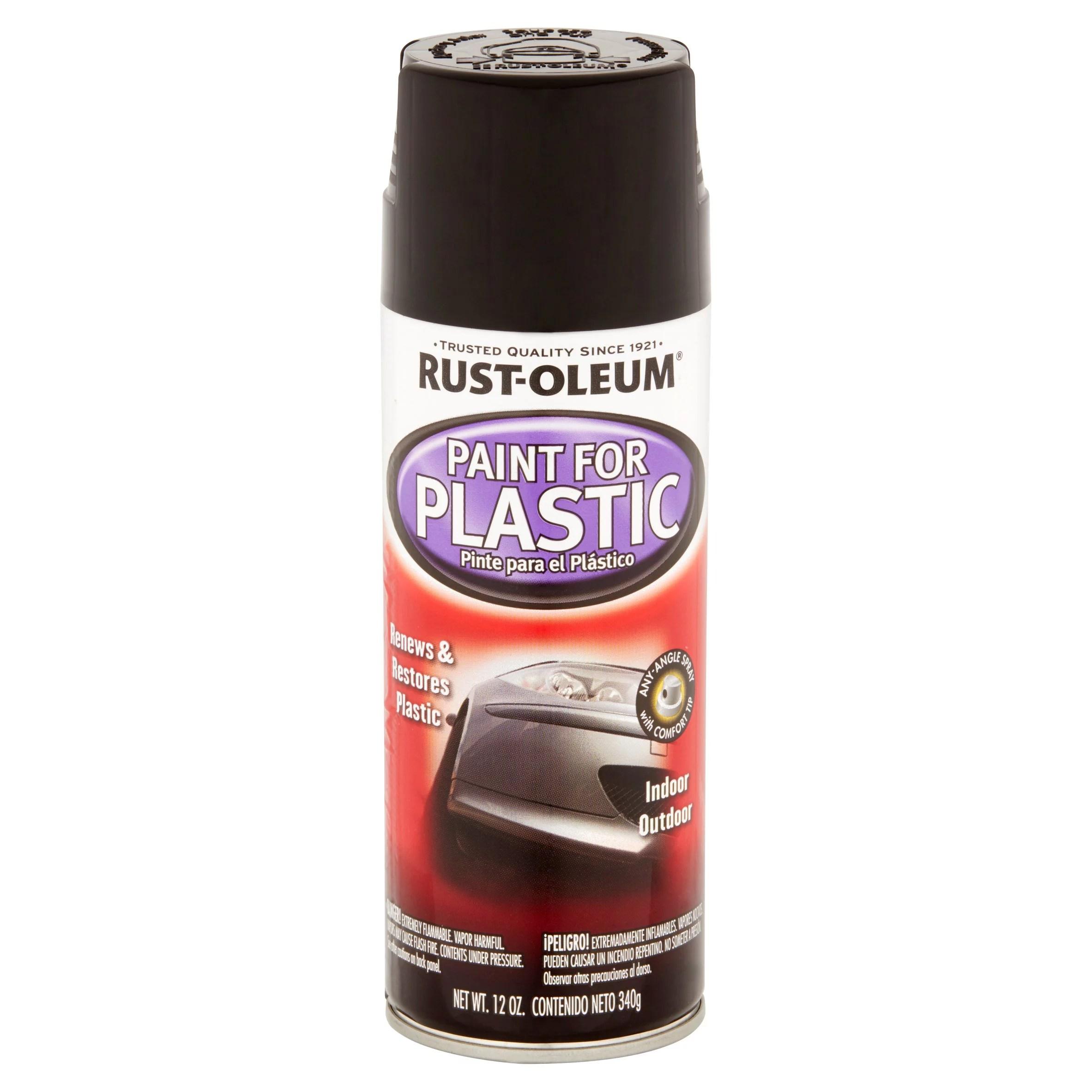 Rust Oleum Paint For Plastic Gloss Black Walmart Com Walmart Com