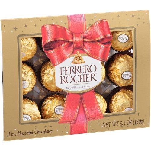 Ferrero Rocher Christmas Chocolate Tin 044 Oz 12 Ct