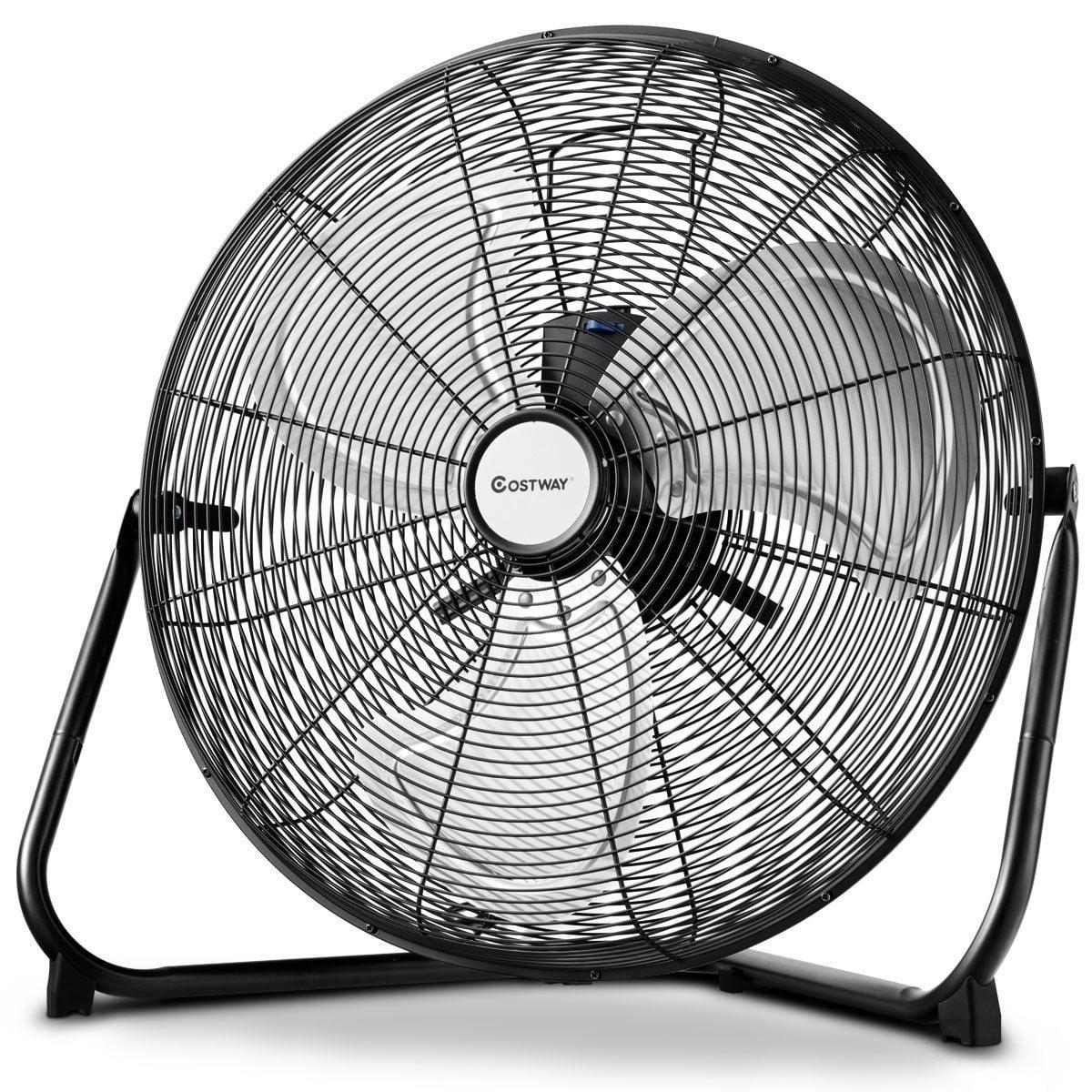 costway 20 high velocity fan commercial industrial grade 3 speed floor fan 360 degree walmart com