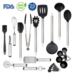 Kitchen Utensil Sets Countertop Tile Set 23 Silicone Cooking Utensils With Spatula Gadgets Cookware Best Tool Gift By Rackaphile
