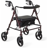Medline Extra Wide Heavy Duty Rollator Walker