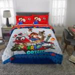 Super Mario Odyssey Bed In A Bag Kids Bedding Bundle Set 5 Piece Full Walmart Com Walmart Com