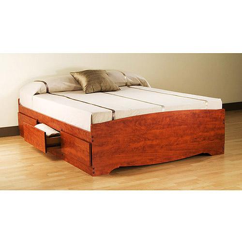 Sauder Palladia Queen Platform Storage Bed Cherry