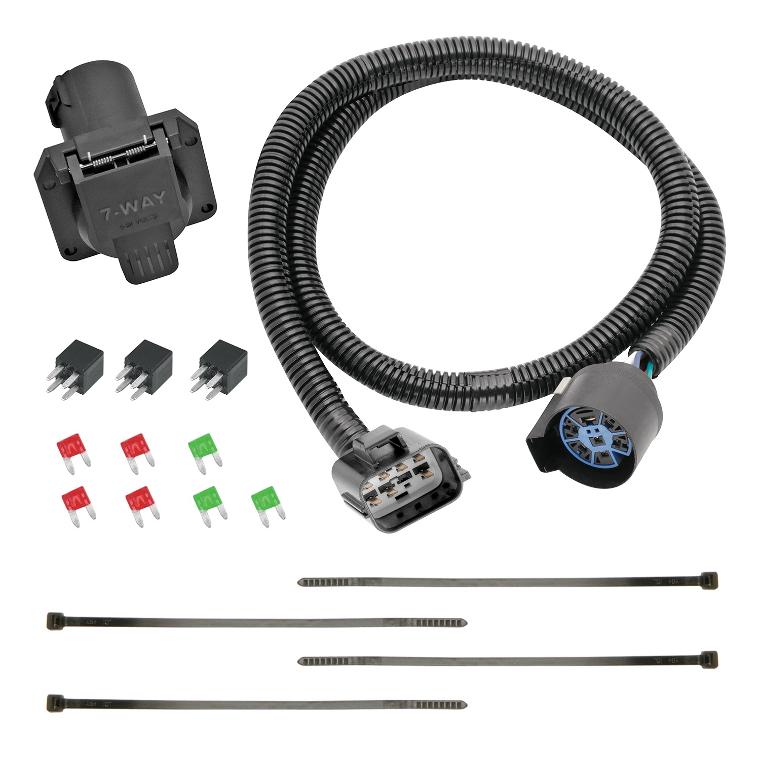 hight resolution of 13 c acadia enclave traverse replacement oem tow package with 7way round wire harness replacement auto part easy to install walmart com