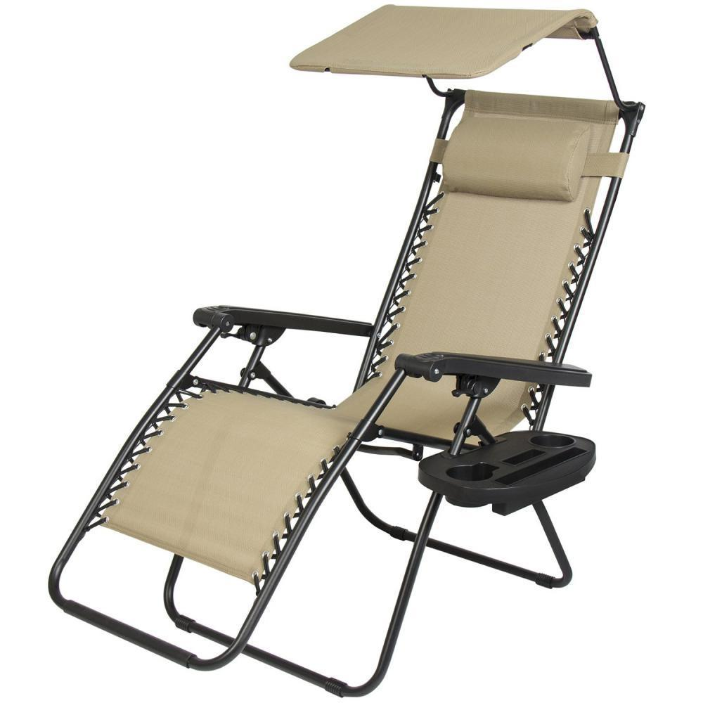 zero gravity pool chairs ergonomic chair replacement parts lounge patio outdoor with canopy cup holder walmart com
