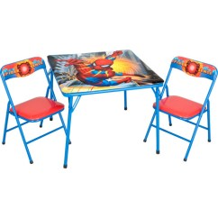 Spiderman Table And Chairs Black Leather Dining Nz Folding Chair Set Spider Man Walmart Com