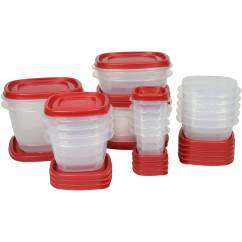 Rubbermaid Kitchen Storage Containers Refurbish Cabinets Food With Easy Find Lids 40 Piece Set Walmart Com