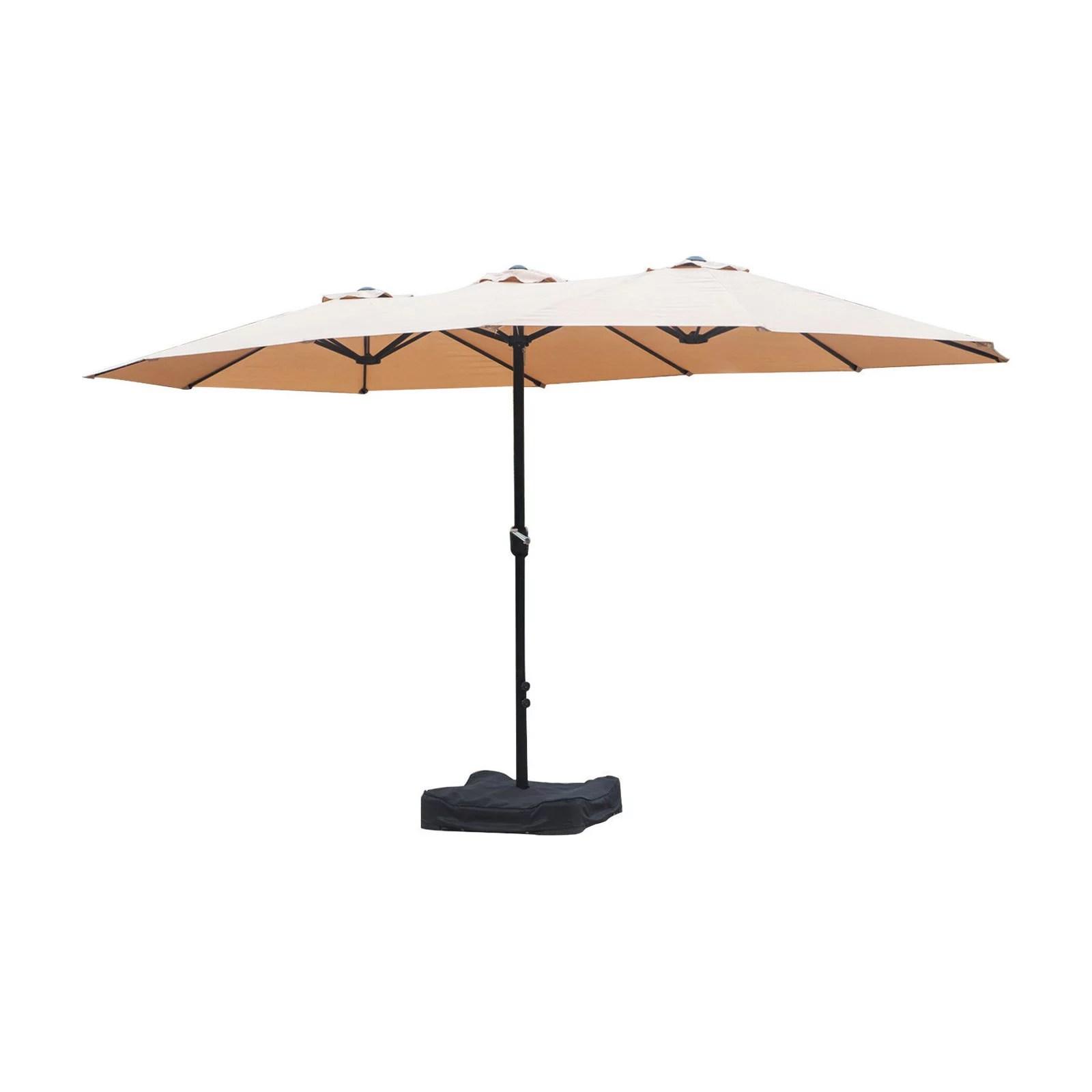 living accents 15 1 ft steel triple canopy patio umbrella with tilt walmart com