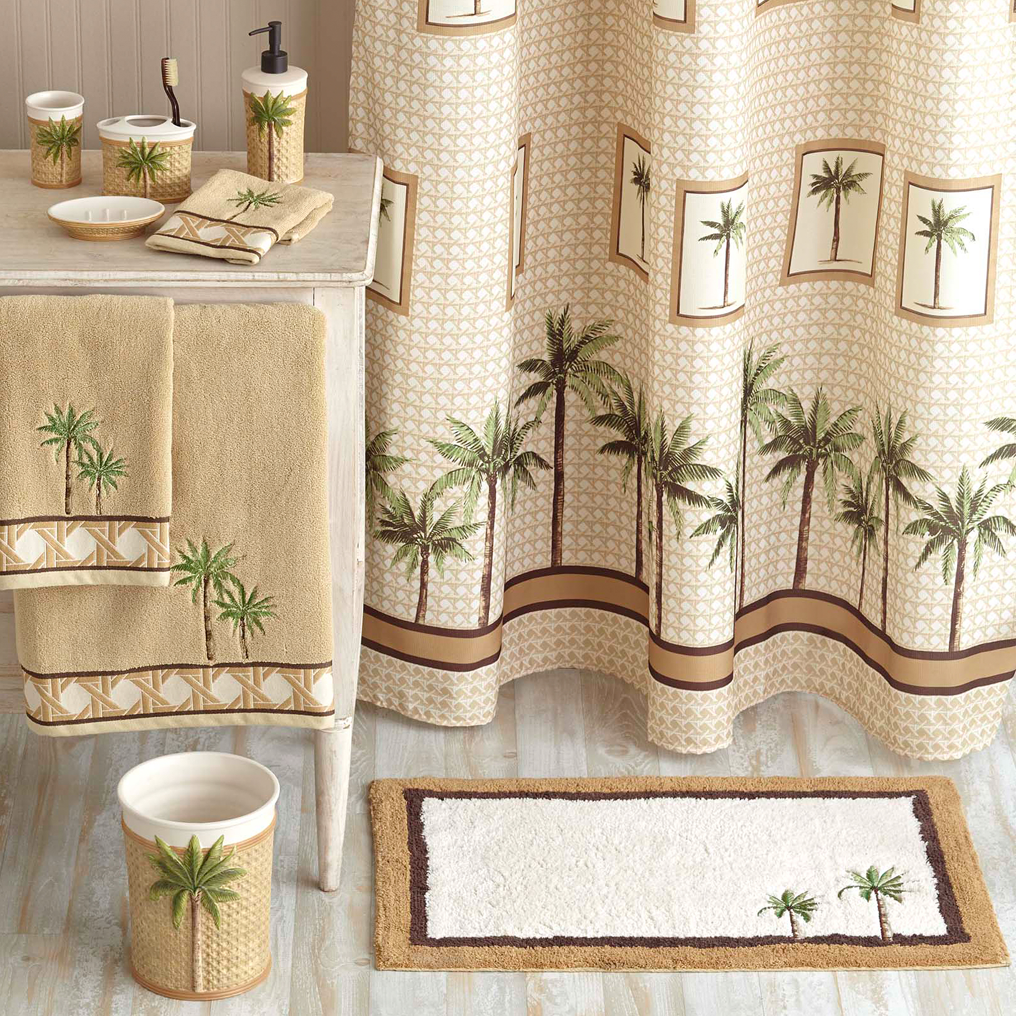 Better Homes And Gardens Palm Decorative Bath Collection Shower