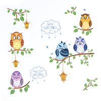 Unique Bargains Owl Birds Branch Pattern Wall Decal ...