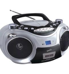supersonic sc 709 silver portable mp3 cd player with cassette recorder am fm radio silver walmart com [ 1500 x 1500 Pixel ]