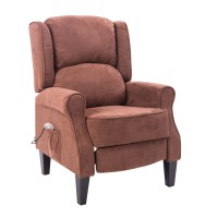 HomCom Heated Vibrating Suede Massage Recliner Chair ...