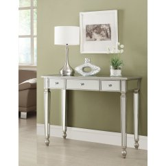 Living Room Console Tables Mirrored Designer Radiators For Rooms Coaster Furniture Antique Silver Table Walmart Com