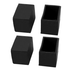 Rubber Chair Protectors Retro Dining Table Chairs 20mmx30mm Leg Floor Feet Tips Covers Caps 4pcs