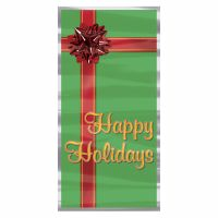 Christmas Happy Holidays Gift Present Holiday Door Cover
