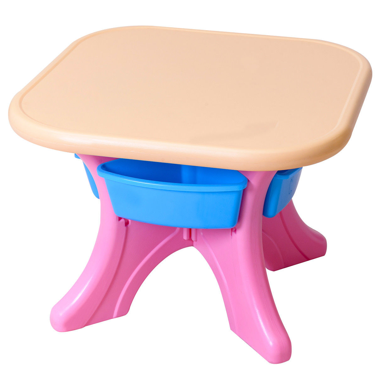 Plastic Kids Chairs Gymax Plastic Children Kids Table Chair Set 3 Pc Play Furniture